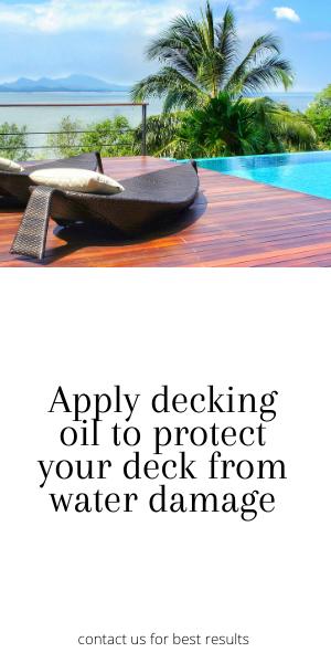 Decking oil to prevent deck damage